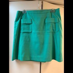 Loft green front pocket skirt